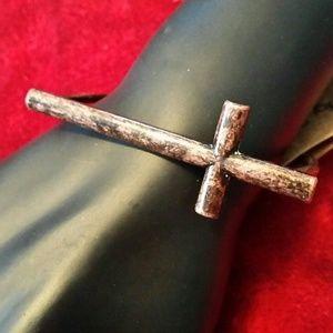 Metal Patina Cross Bracelet